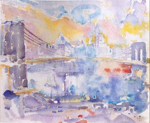 Brooklyn Bridge (John Marin, 1912)