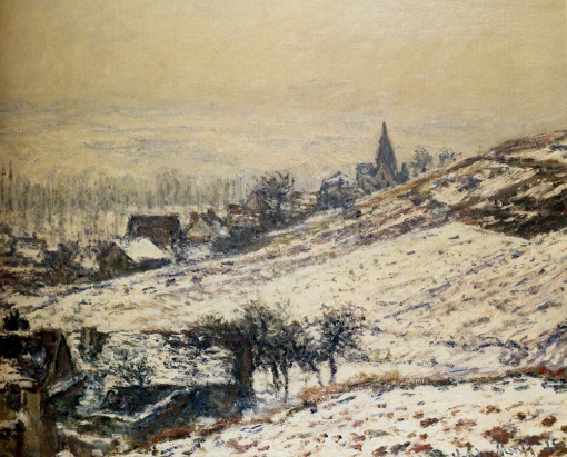 Winter at Giverny (Claude Monet, 1885)