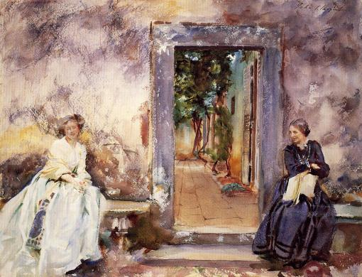 The Garden Wall (John Singer Sargent, 1910)