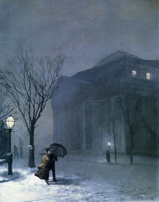 Albany in the Snow (Walter Launt Palmer, 1871)